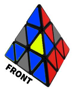 penyelesaian lapisan pertama pyraminx
