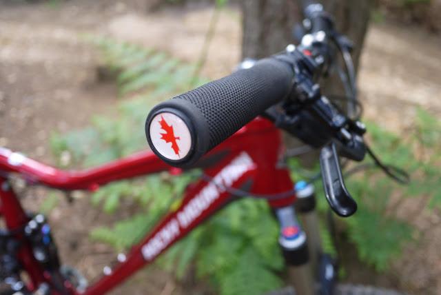 Rocky Mountain Bike maple leaf bar-end