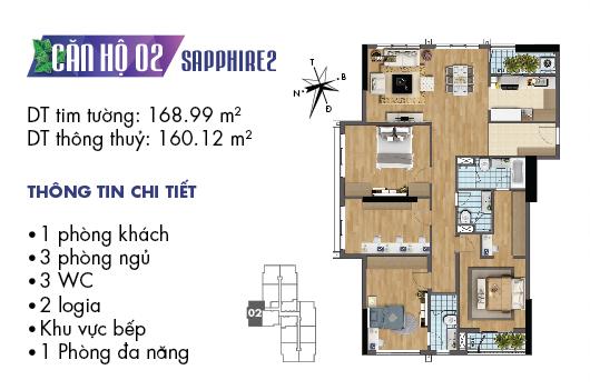 Căn hộ 02 tòa Sapphire 2