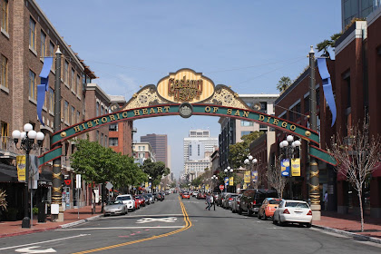 Downtown Gaslamp Quarter in San Diego