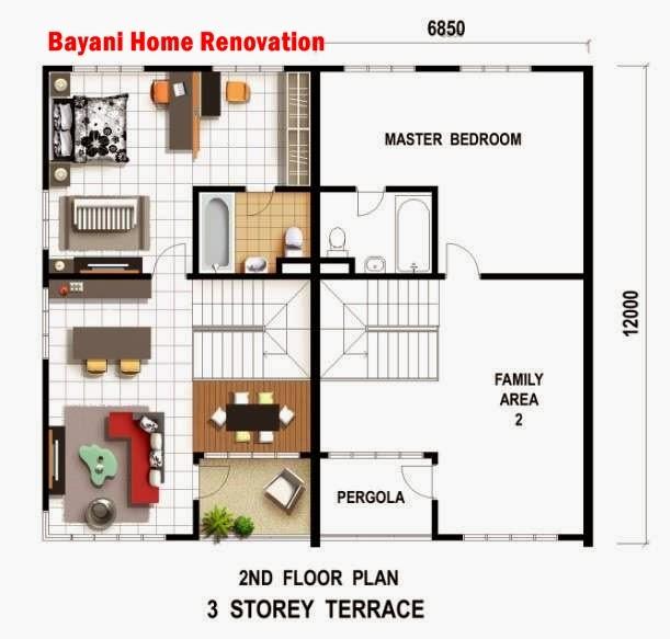Sample Plan Rumah Teres 3lantai