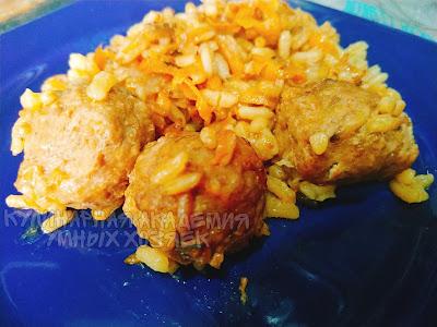 Тефтели с рисом запеченные