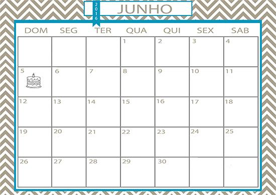 calendário, folhinha, junho, calendário junho, acasaehsua, a casa eh sua