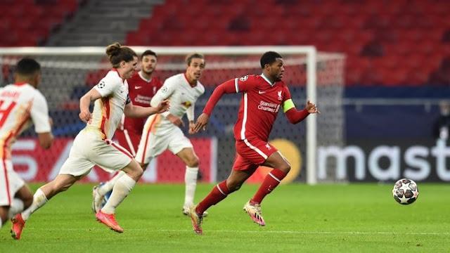 ليفربول يفوز مجددا على لايبزيغ ويتأهل الى الدور ربع النهائي