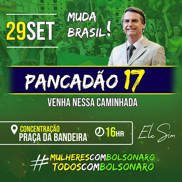 Sábado, 29, eleitores de Bolsonaro e Haddad realizarão carreatas e ato de apoio aos candidatos em Chapadinha