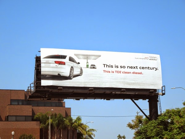 Audi TDI clean diesel so next century billboard