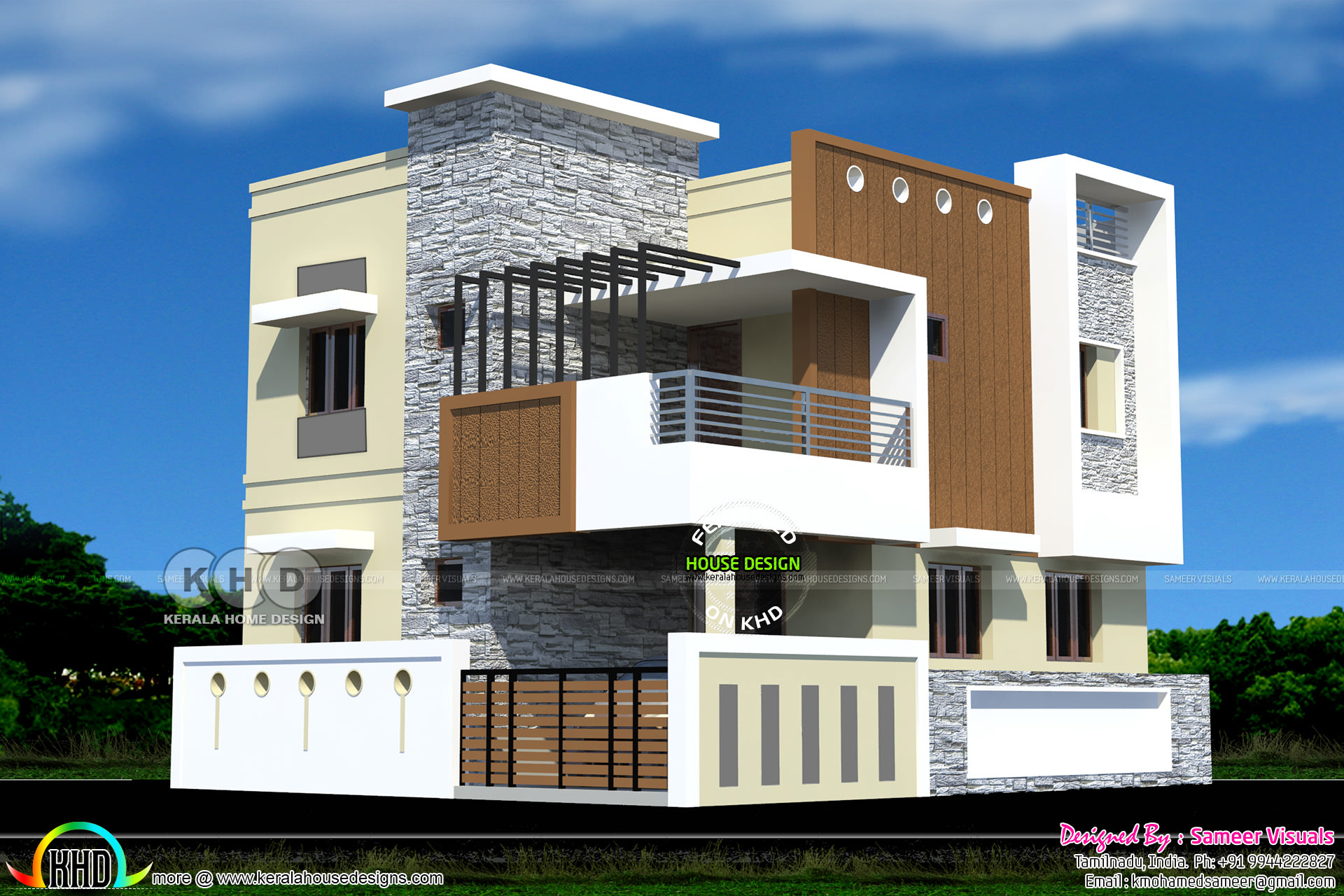 Superior 2010 Square Feet South Indian Home Plan