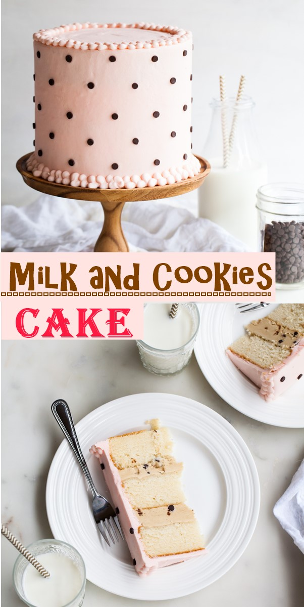 Milk and Cookies Cake #cakerecipes