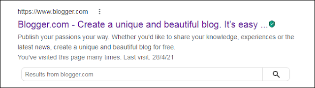 Blogger Search Result