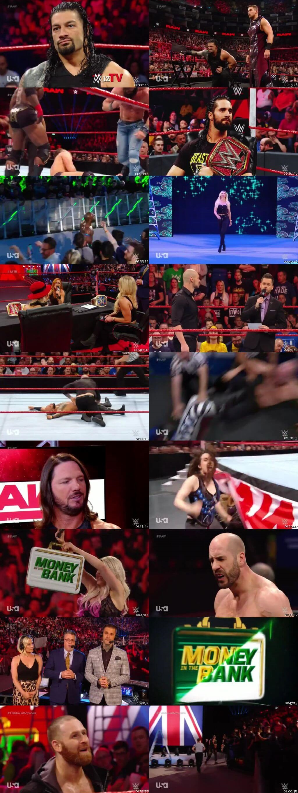 Screen Shot Of Wrestling TV Show WWE Monday Night Raw 13th May Watch Online Free Download
