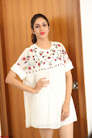 Lavanya Tripathi in Summer Style Spicy Short White Dress at her Interview  Exclusive 208.JPG