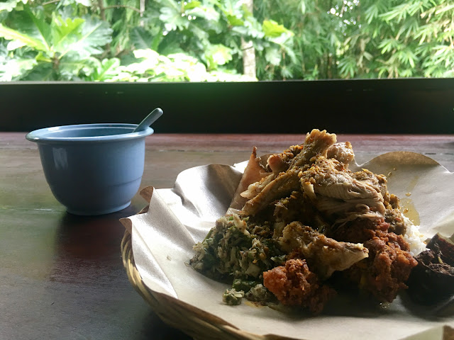 The 'famous' special at Ibu Oka in Ubud, Bali