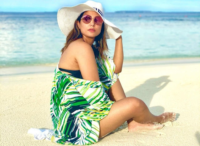 Hina Khan treats fans with stunning PHOTOS in a bikini from her vacay- newsdezire