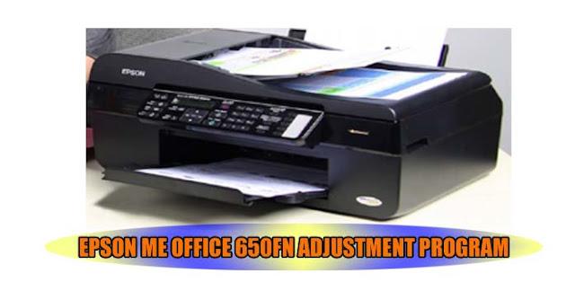 EPSON ME OFFICE 650FN PRINTER ADJUSTMENT PROGRAM