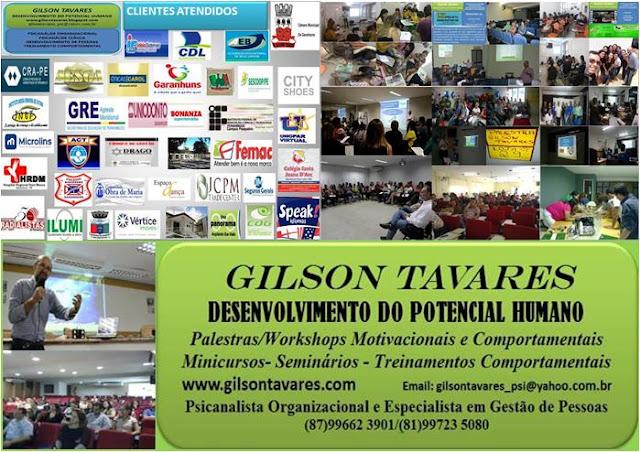 http://gilsontavares.blogspot.com.br/p/palestras-e-cursos.html