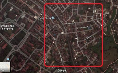 Peta Kampung Baru Unila
