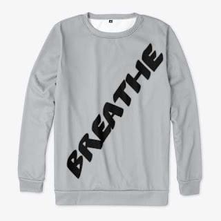 Breathe All-over Print Sweatshirt Silver