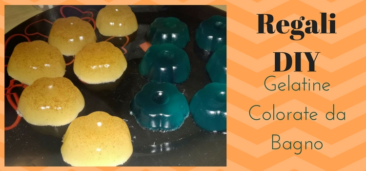Regali DIY - Gelatine Colorate da Bagno
