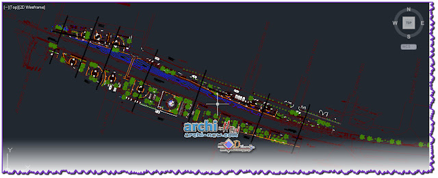 download-autocad-cad-dwg-file-boulevard-bike-lane-restaurant-playground