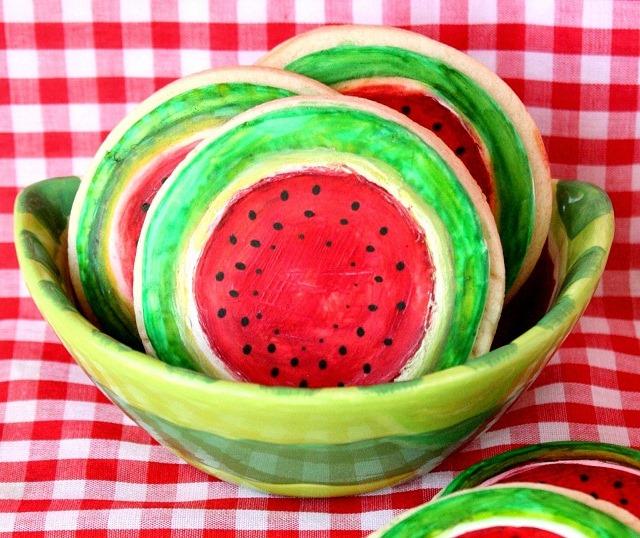 Rustic Watermelon Cookies
