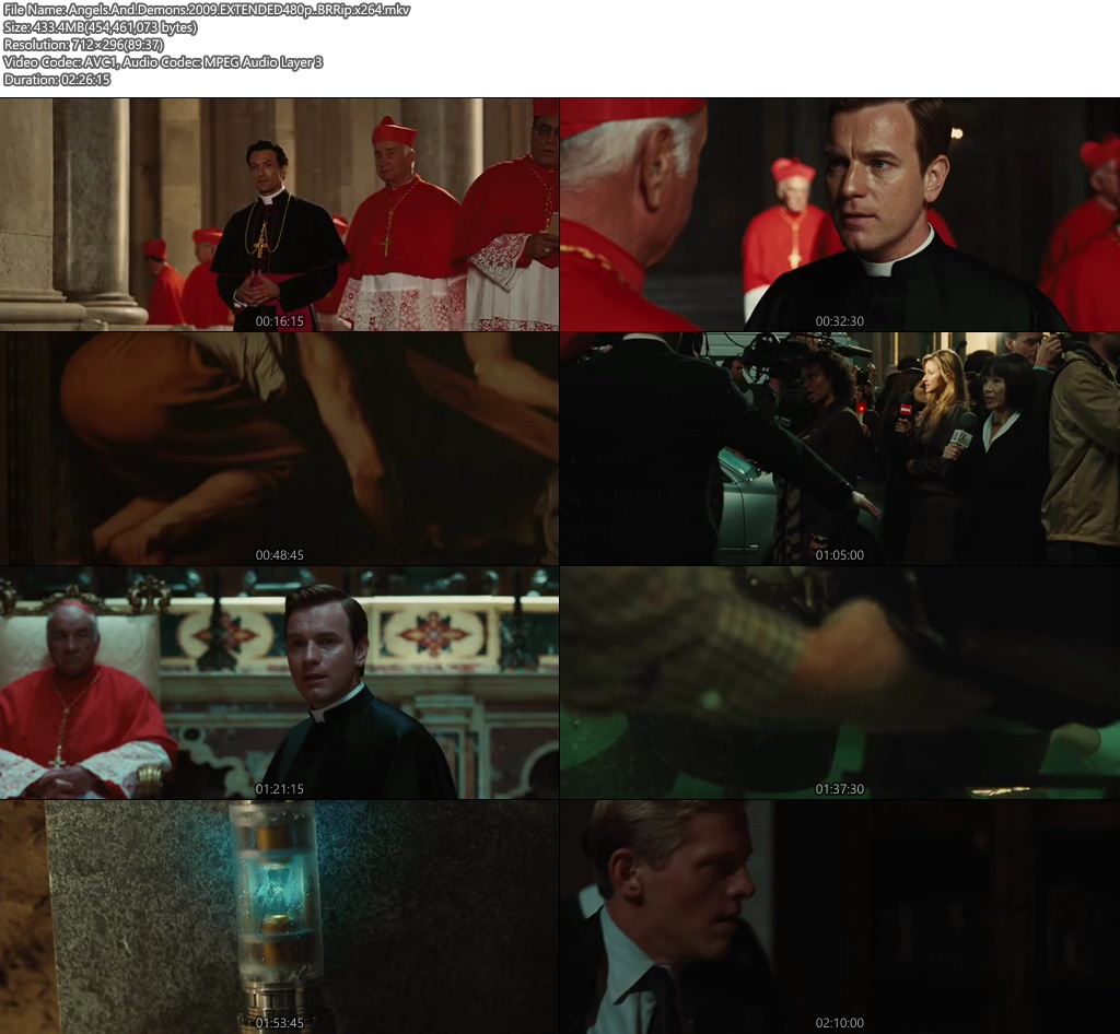 Angels And Demons 2009 EXTENDED 480p BRRip 450MB x264 Screenshot