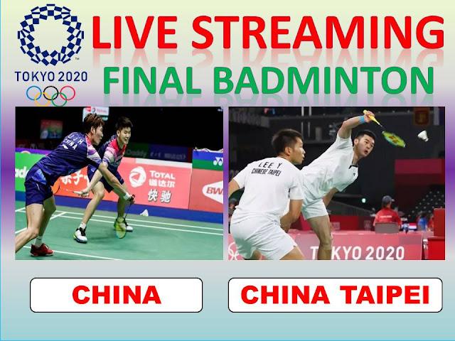 Ayo Nonton Streaming Olimpiade FINAL Ganda Putra : Y.C Liu/J H. Li (Tiongkok) Vs Y. Lee/C.L. Wang (Tionghoa Taipie) Jam 18.30 WIB