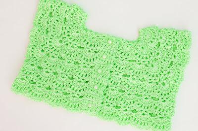 7 - Crochet Imagen Canesú rosa a crochet y ganchillo por Majovel Crochet