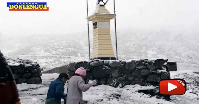 Video muestra la espectacular nevada que cayó en el Pico El Águila de Mérida