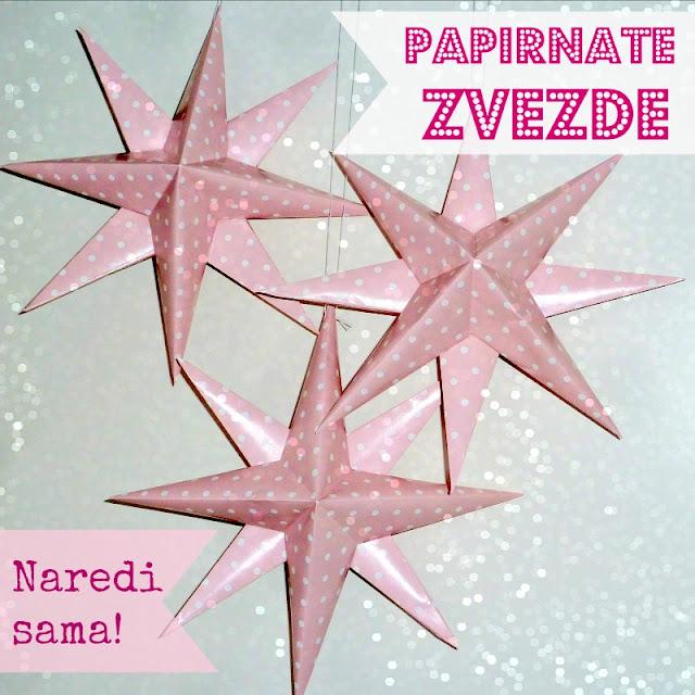 papirnate novoletne zvezde - naredi sam božična dekoracija