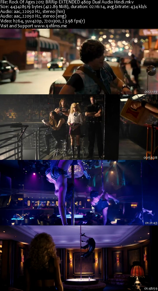 Rock Of Ages 2012 BRRip EXTENDED 480p Dual Audio Hindi