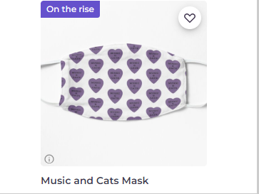 cat-themed face mask