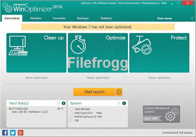 Ashampoo WinOptimizer 2016 Full Version