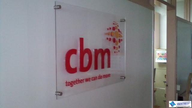 Acrylic Logo Panel Sign - CBM International Philippines