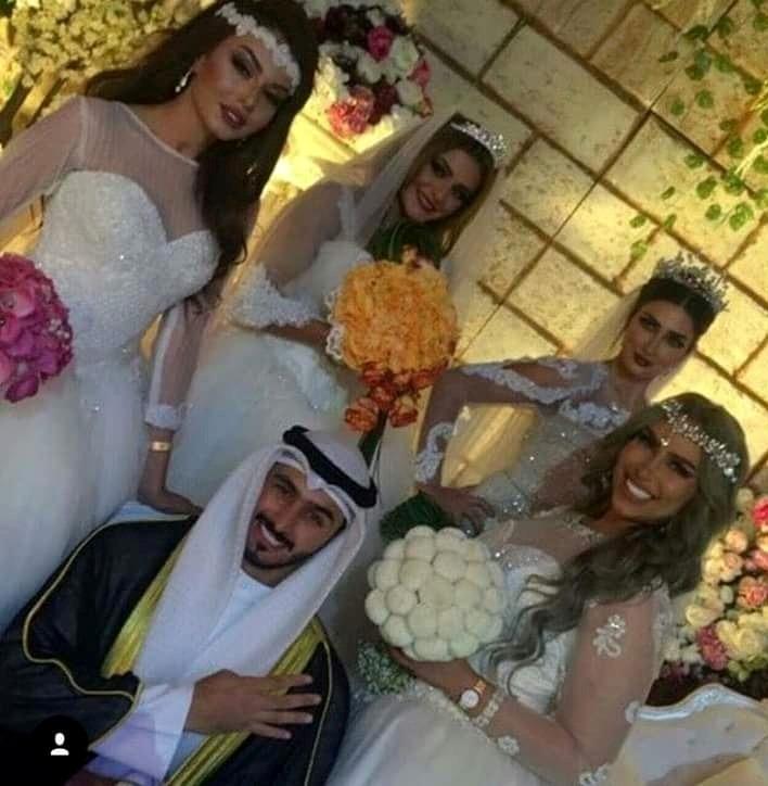 شاب خليجى يتزوج اربعة فتيات فى ليلة واحدة انتقاما لرجولته ومهر زوجاته 500 الف درهم