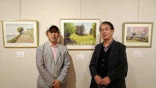 現代童画会 糸井邦夫先生。個展会場で。