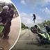 Viral rakaman dashcam penunggang motosikal rempuh kereta rosak di lorong kanan