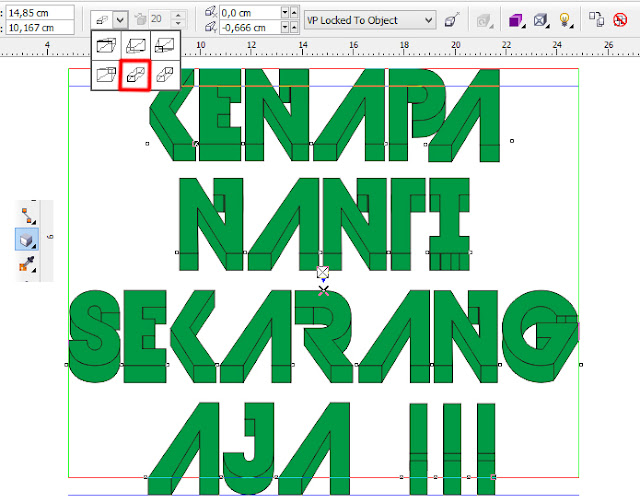 tutorial teks 3D coreldraw