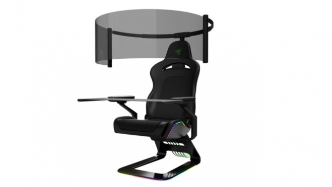 Razer's concept gaming chair with 60-inch OLED 1