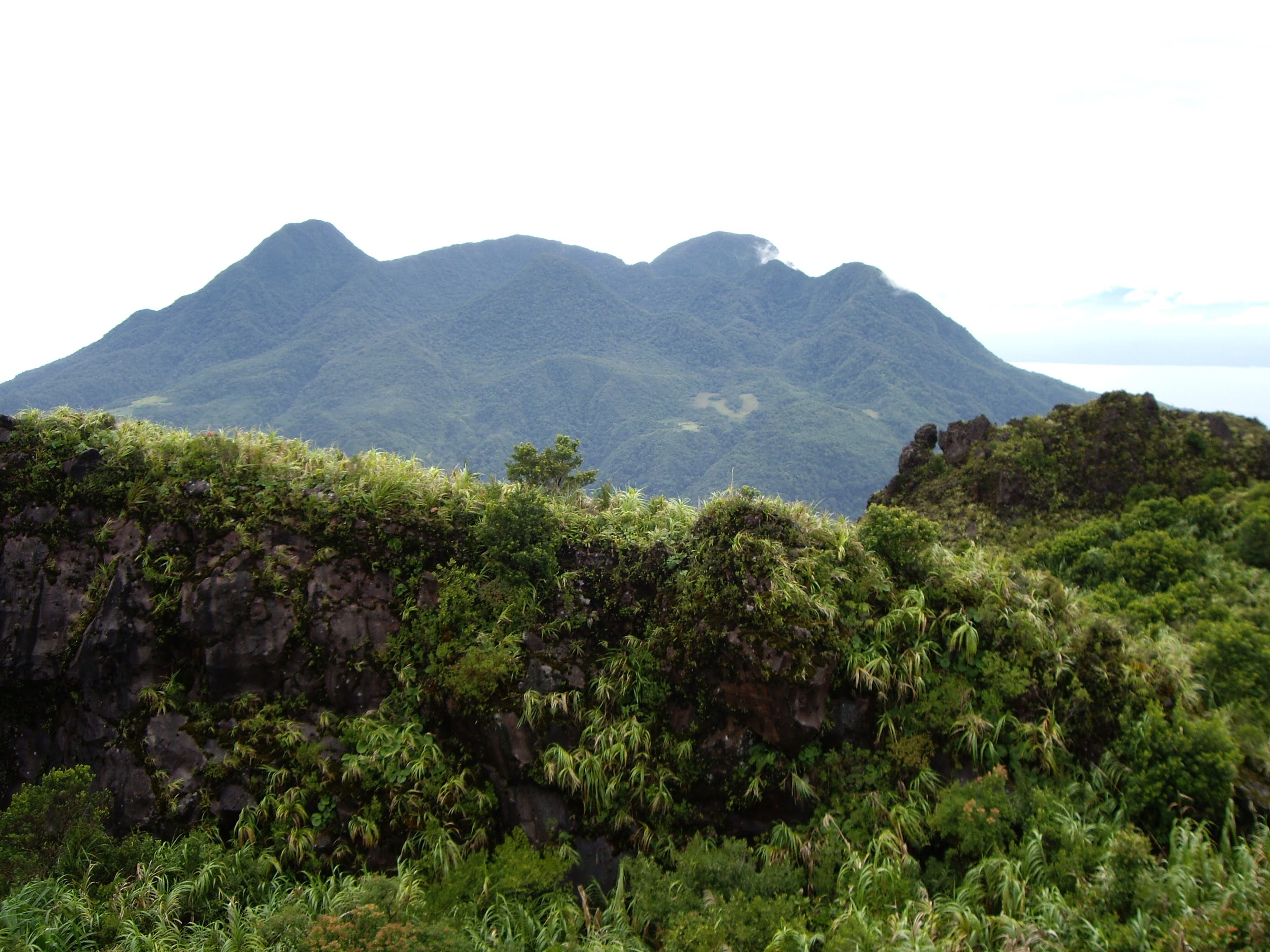 On the top of Mount Hibok-Hibok, Camiguin Island.