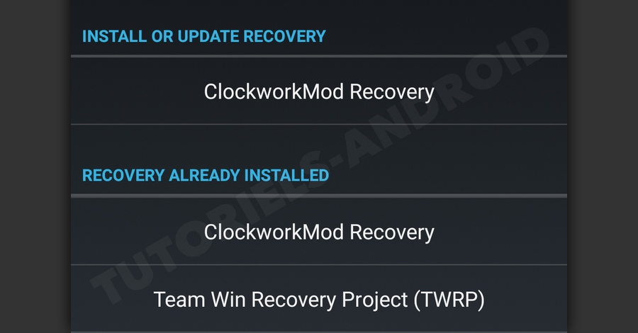 Install or Update Recovery GALAXY S