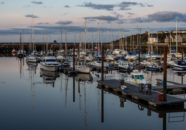 Photo of another view of reflections at Maryport Marina (Ravensdale is on the left of the image)