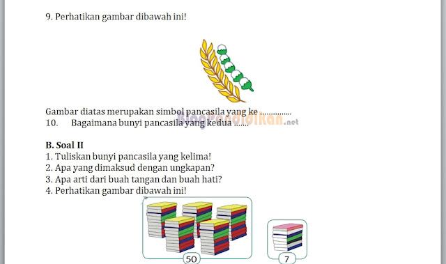 Soal Ulangan Harian Tema 1 Subtema 1 Kelas 1, 2, dan 3
