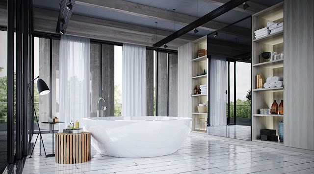 Architecture And Design Bathroom