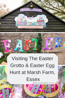 Visiting the Easter Grotto and Easter Egg Hunt at Marsh Farm Essex