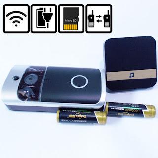 wifi wireless video doorbell plus chime plus batteries