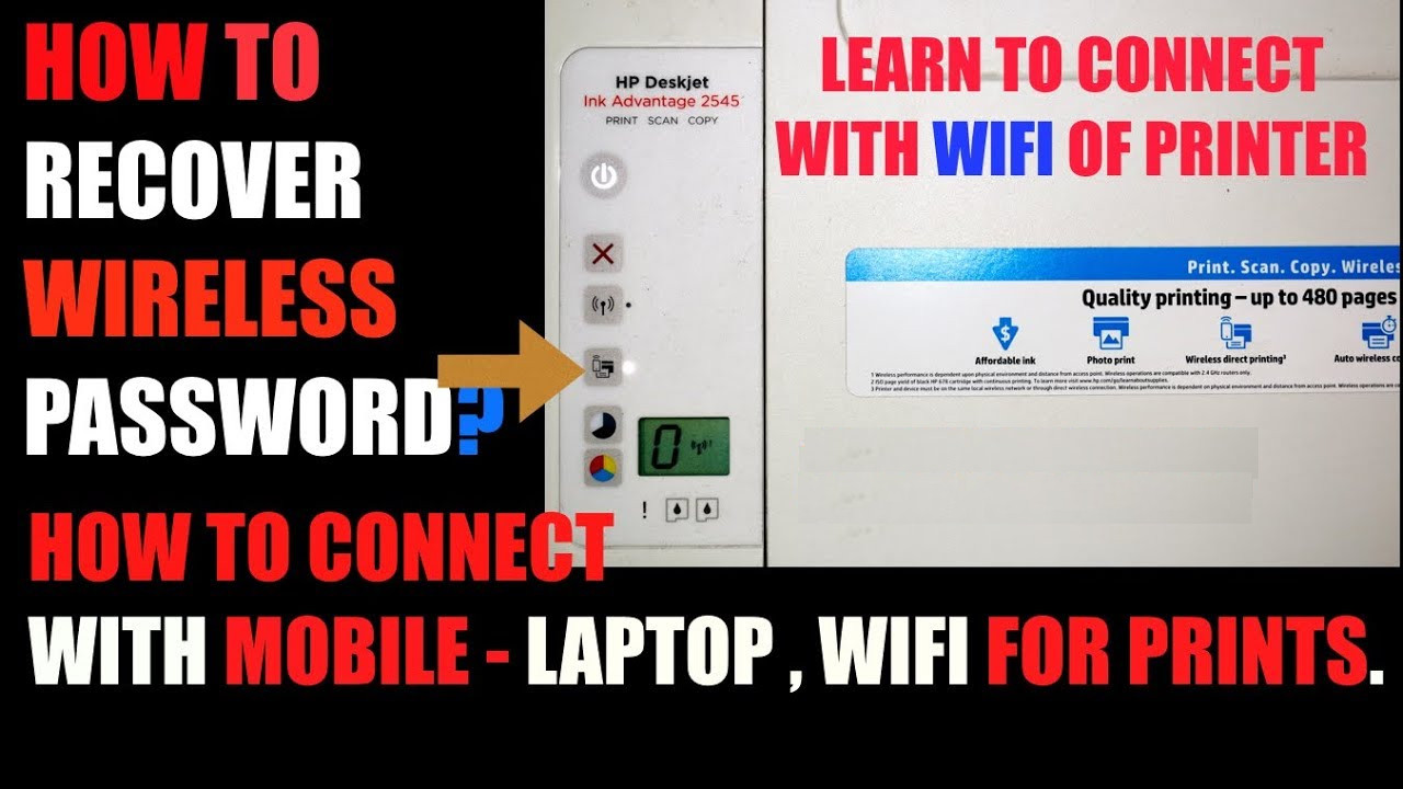 how to set password for hp printer