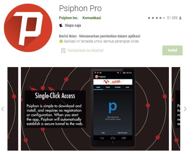 Cara Menggunakan Psiphon Pro Indosat Terbaru 2021