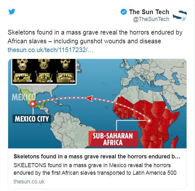 مقبرة جماعية بالمكسيك تكشف عن أهوال شنيعة تعرّض لها العبيد الأفارقة قبل 500 عام