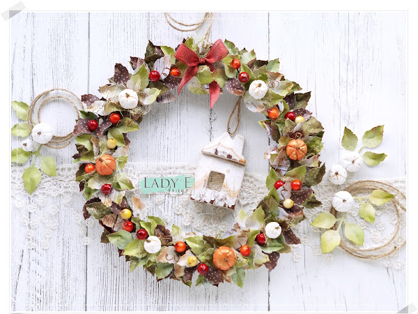 Autumn Wreath - Die Cut Leaves
