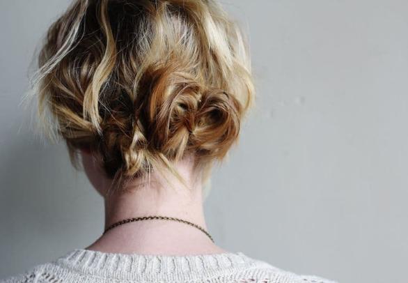 pinned coils for short hair